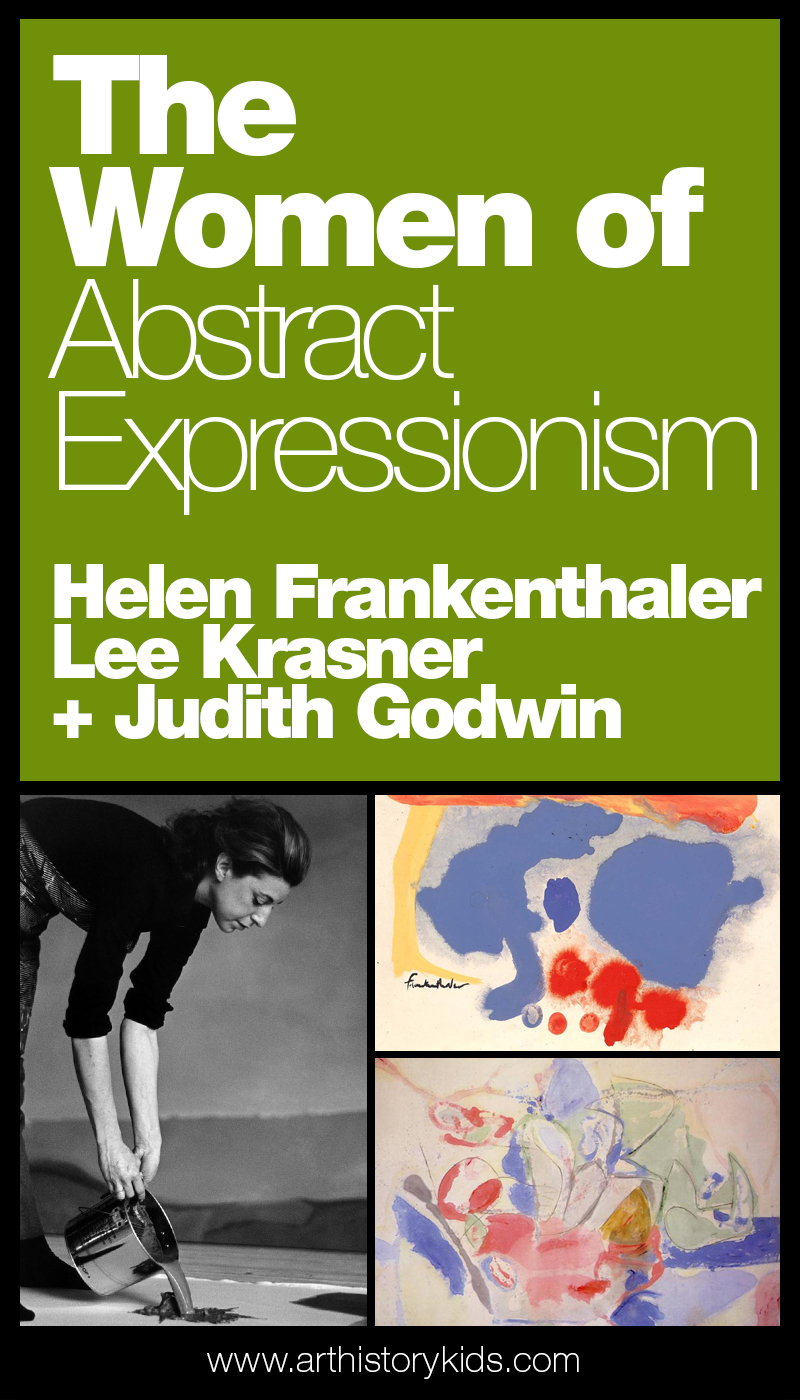 Art Appreciation for kids – Explore famous artists with kids – The women of Abstract Expressionism. Learn all about Helen Frankenthaler, Lee Krasner, and Judith Godwin.