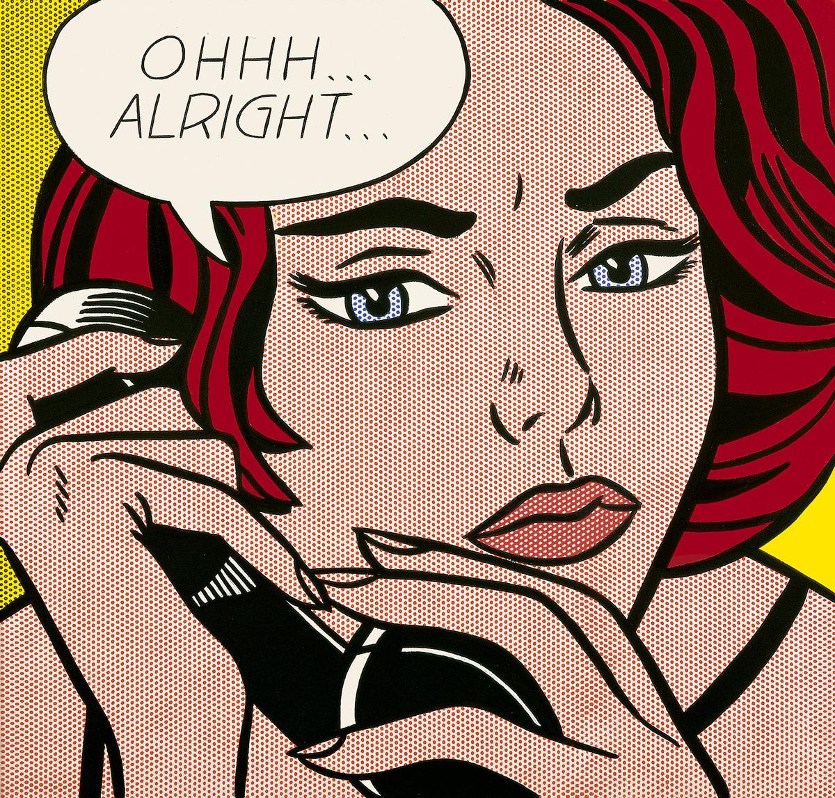 Roy Lichtenstein,   Ohhh ... Alright .. .