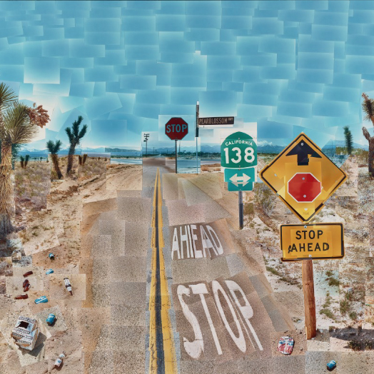 David Hockney,   Pearblossom Highway,  1986 // May 2018