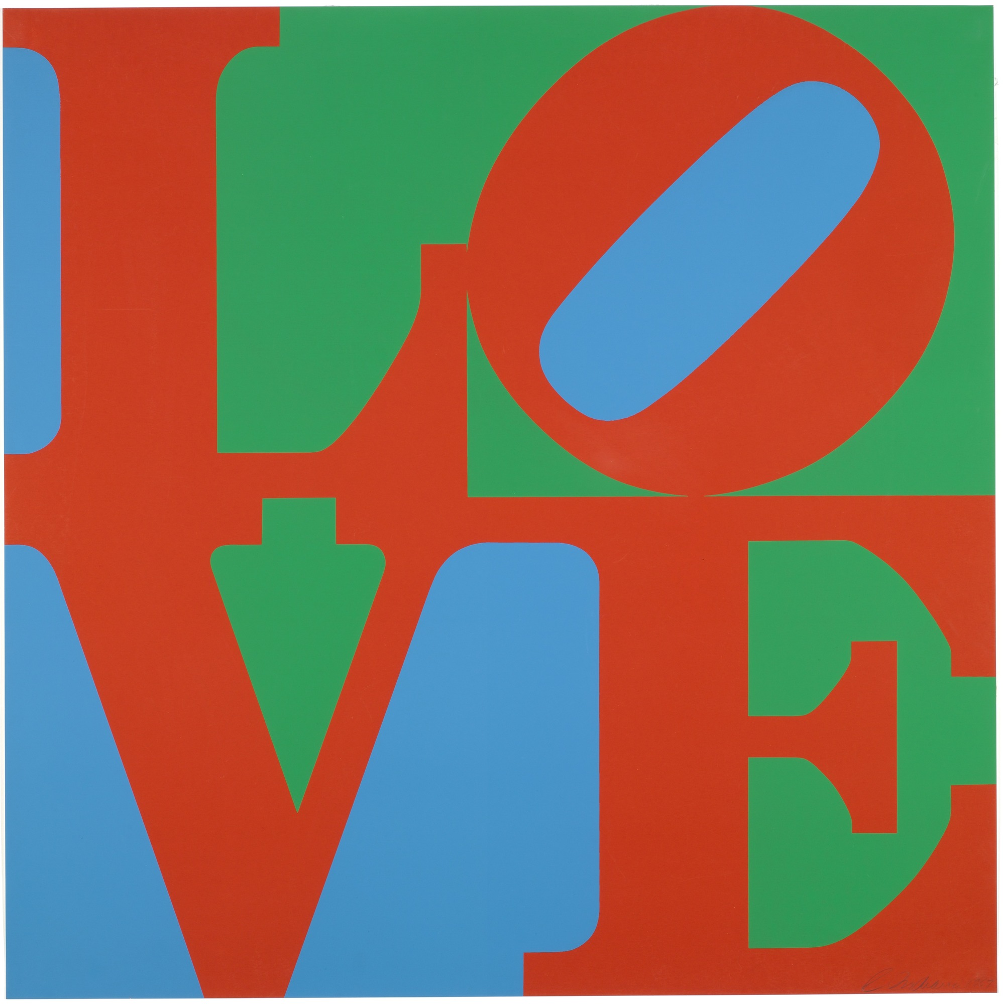 Robert Indiana's iconic LOVE artwork, and a Valentine's project for kids!