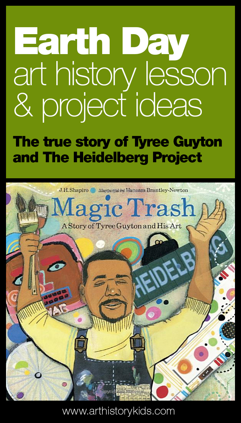 Earth Day art project for kids with Tyree Guyton