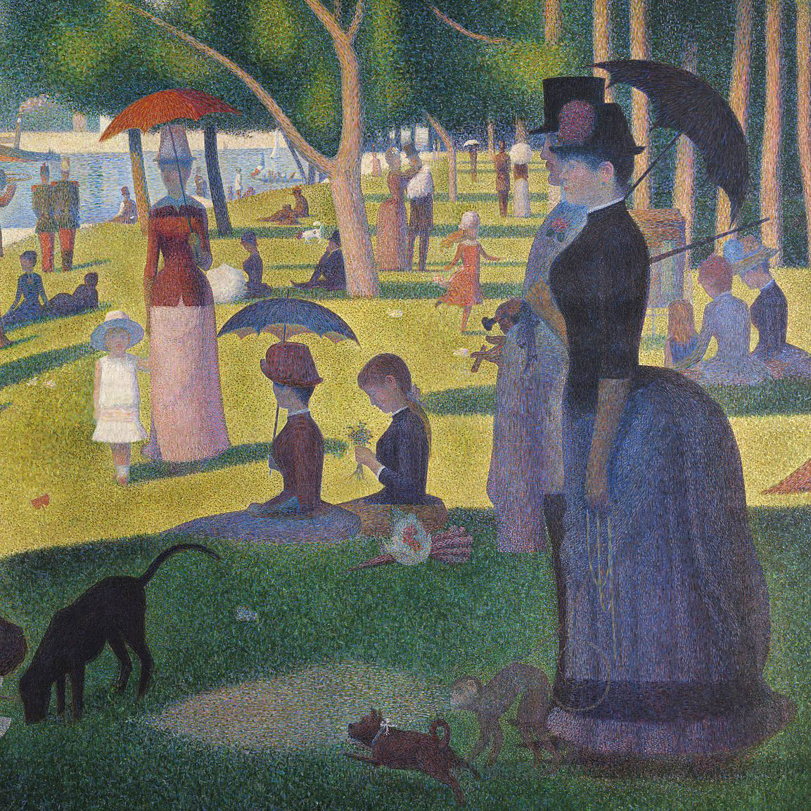 Georges Seurat,   A Sunday Afternoon on the Island of La Grande Jatte,  1884-1886 // October 2018
