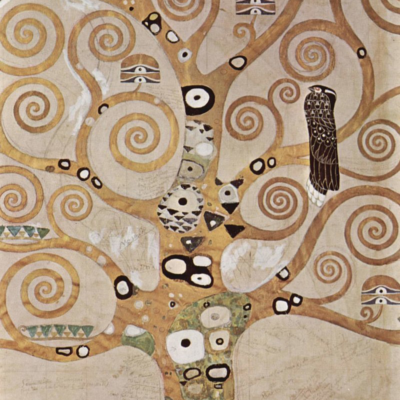 Gustav Klimt,   The Tree of Life,  1909 // November 2018