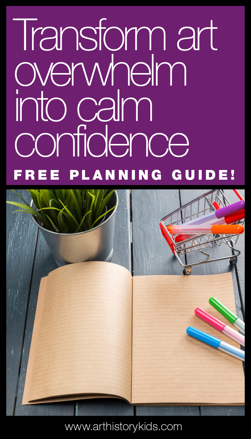 Banish art overwhelm with these simple planning tips!
