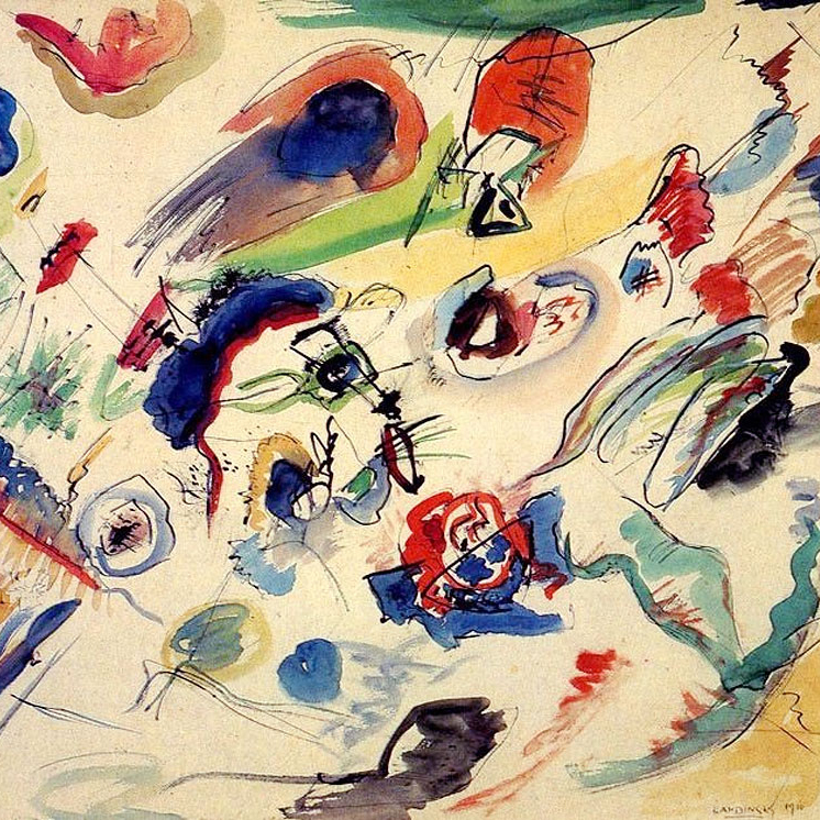 Wassily Kandinsky,   Untitled (First Abstract Watercolor),  1910 // Dec 2018