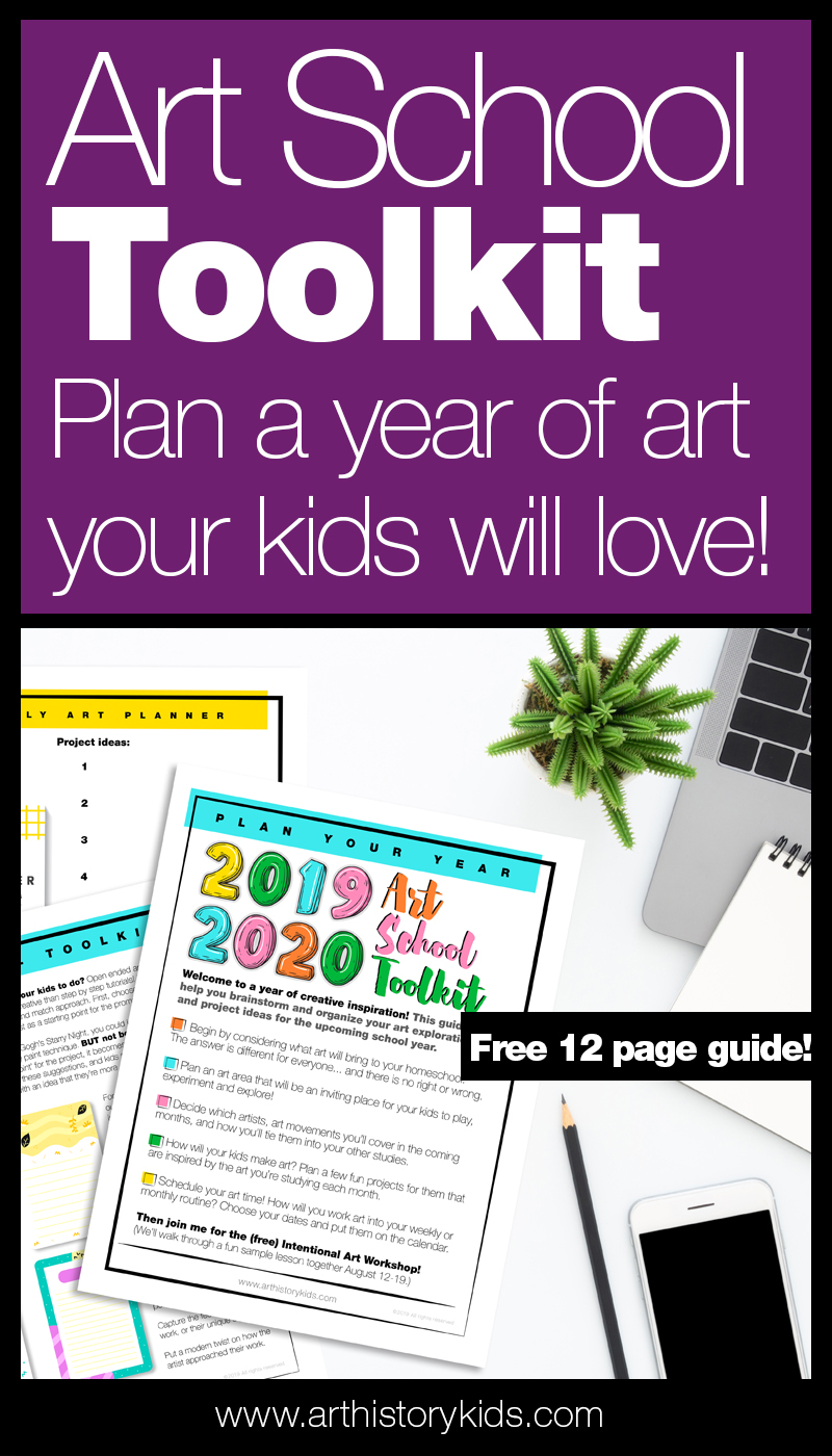 Art School Toolkit. Get ready for a year of inspirational art activities with this free planning workbook. Perfect for homeschool art units or co-op leaders.