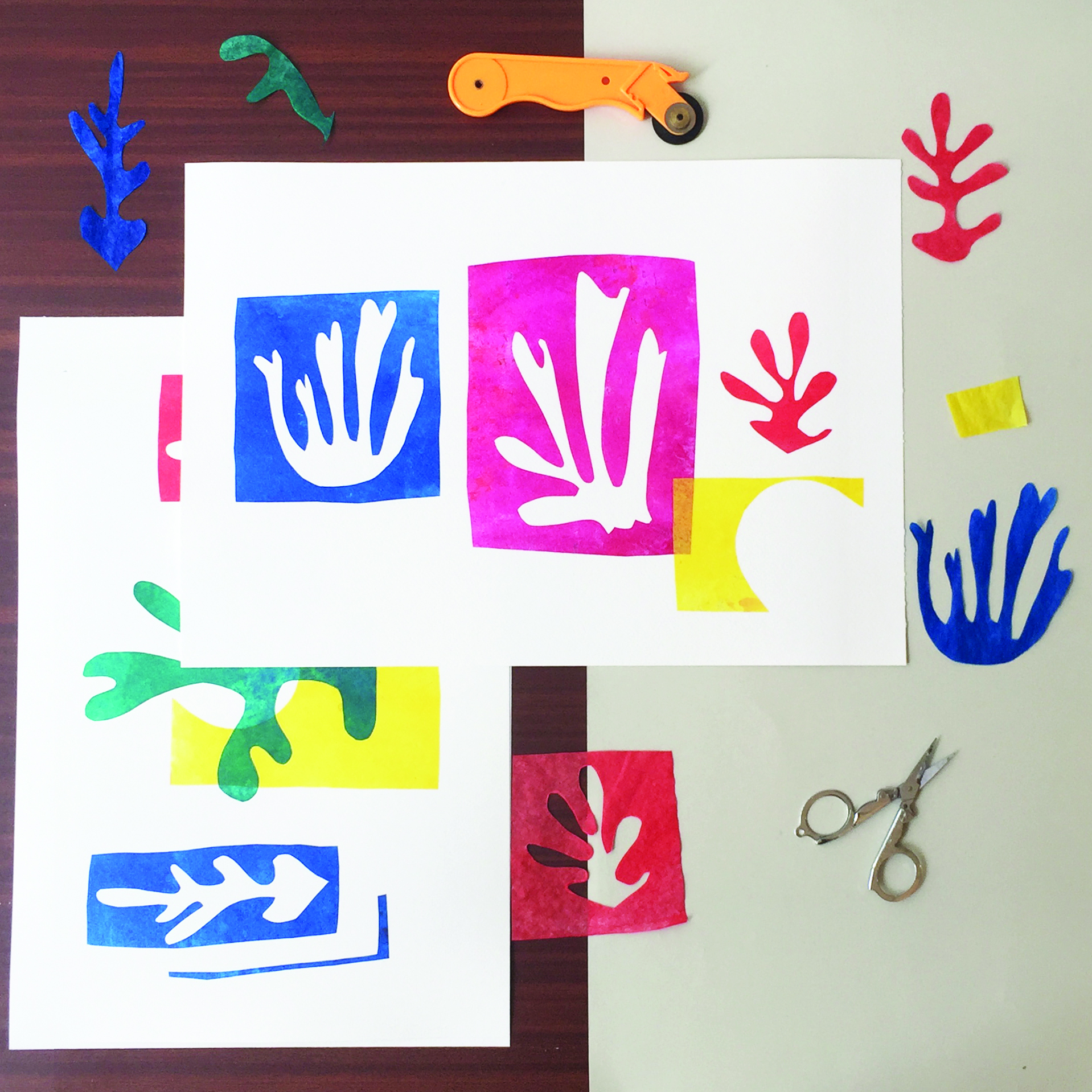 Express Collage Workshop with Gabriela Szulman - 11.00 - 12.00Empress Mews Studios, 6 Empress Mews, Off Kenbury Street, SE5 9BTJoin mixed media artist Gabriela Szulman in her studio for an express collage workshop inspired by Matisse's cut-outs. You will learn a very simple technique for which no experience or artistic ability is necessary. All materials are provided£20 single, £35 double - BOOK HERE