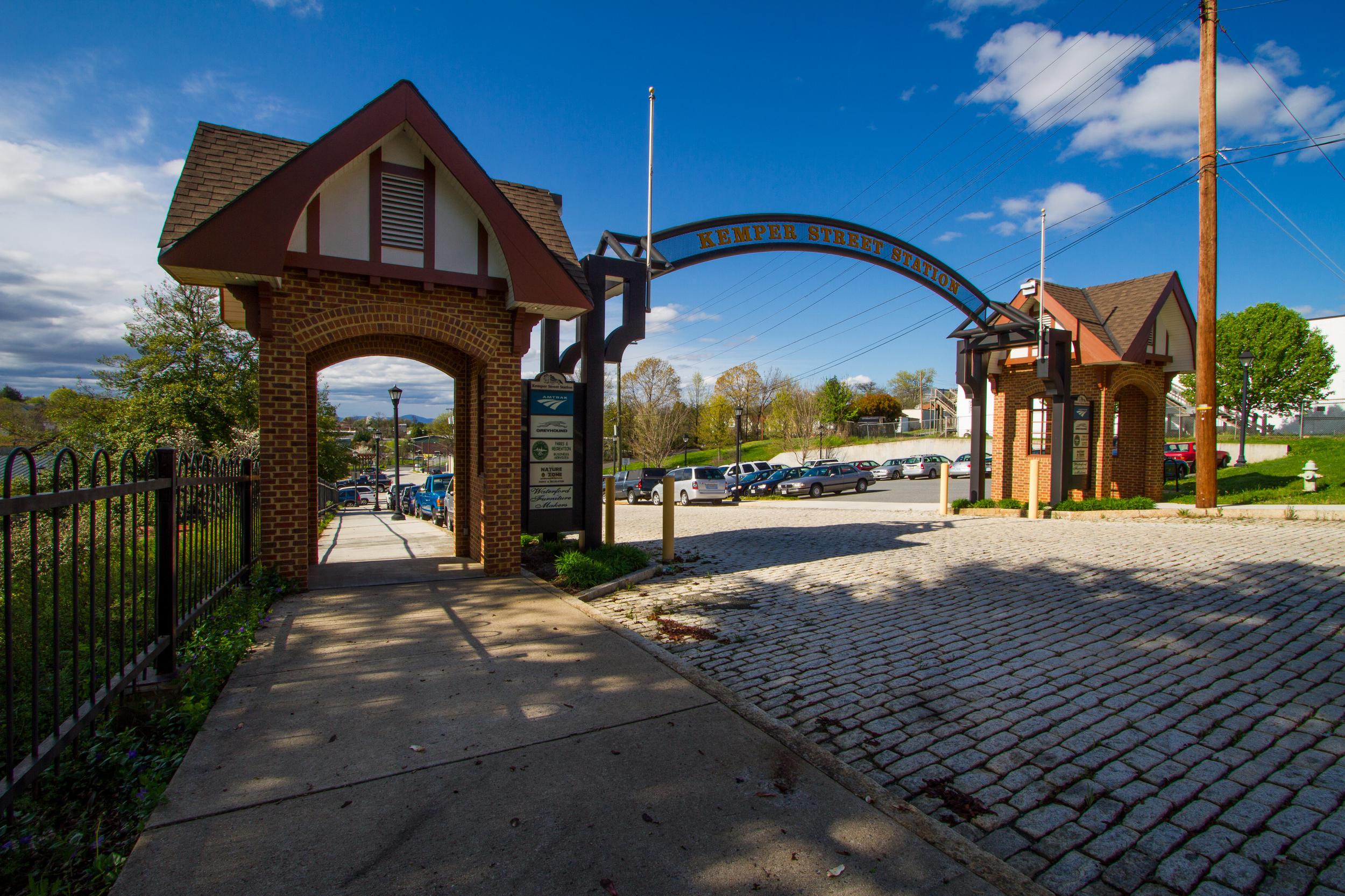 KEMPER STREET TRAIN STATION gateway -LYNCHBURG, VIRGINIA