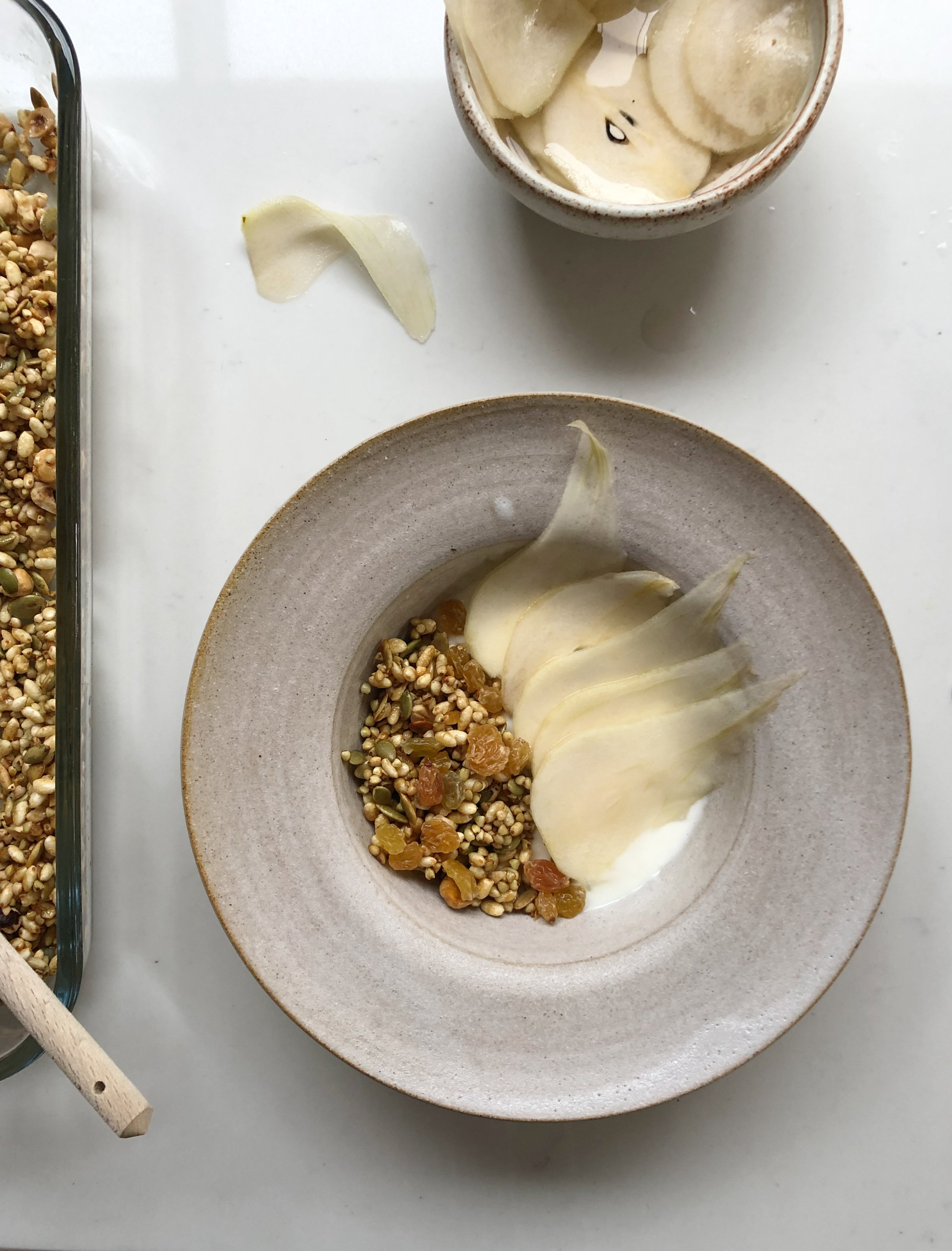 Buckwheat, puffed rice granola recipe