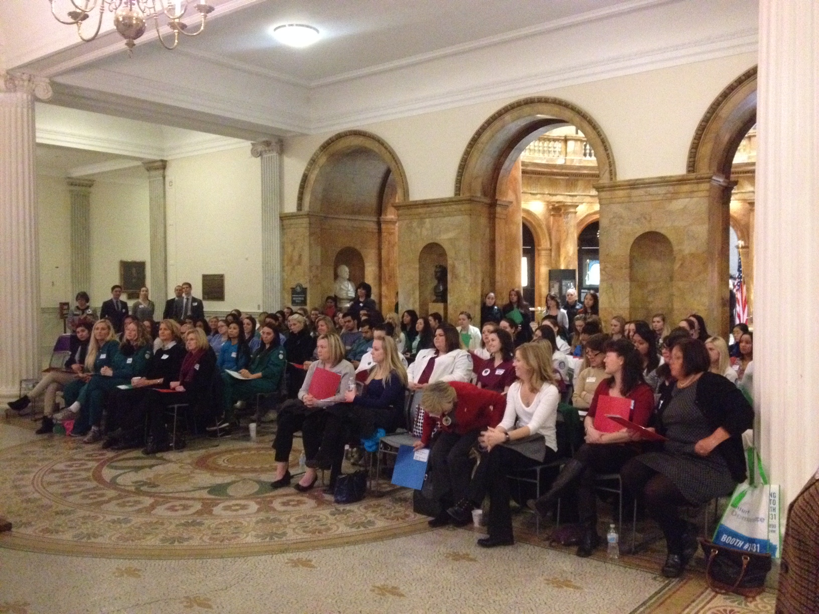 Dental hygiene students from across Massachusetts at Dental Hygiene Day on Beacon Hill