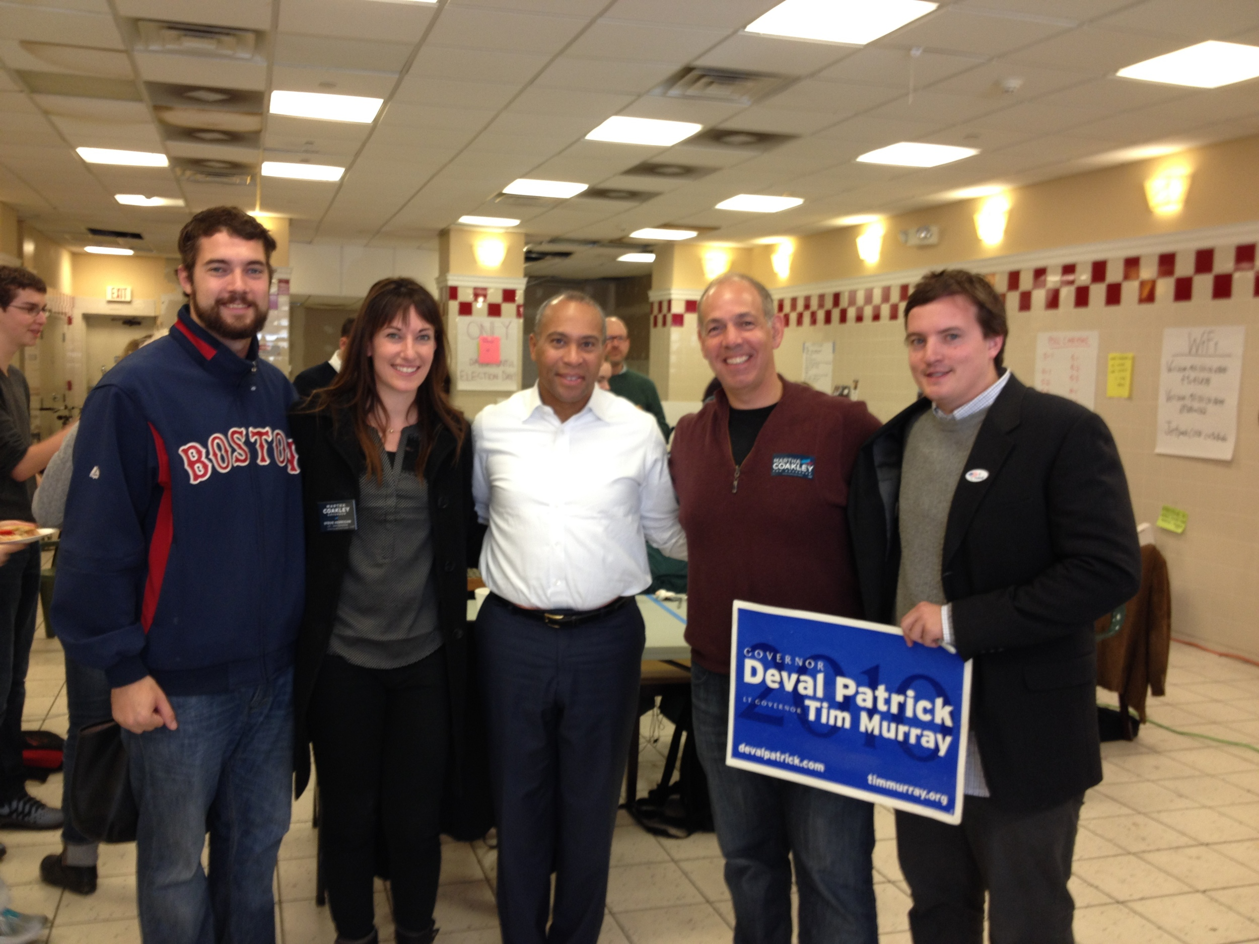 Charles Group Consulting interns with former Governor Deval Patrick