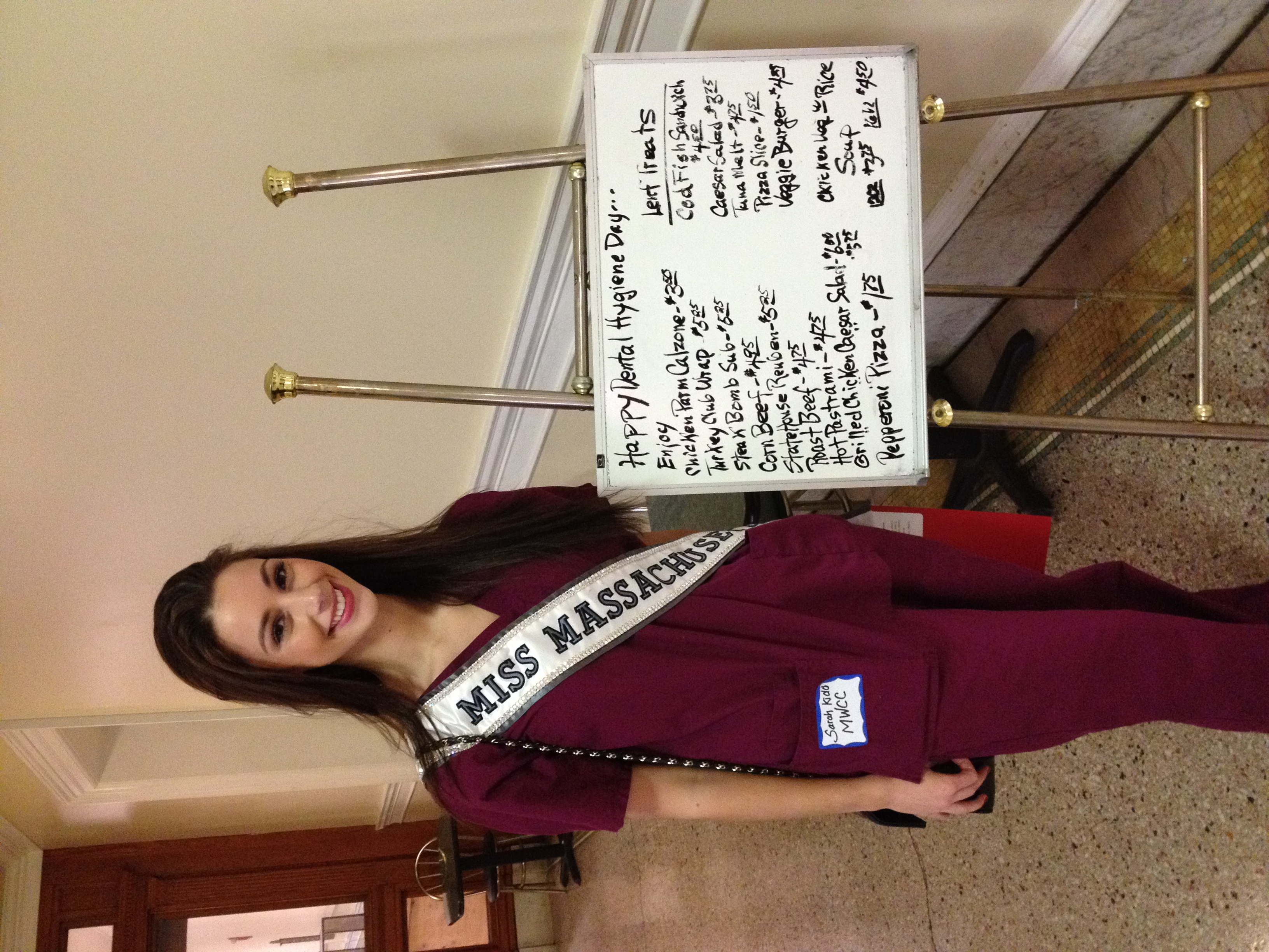 """Miss Massachusetts"" on Dental Hygiene Day at the State House"