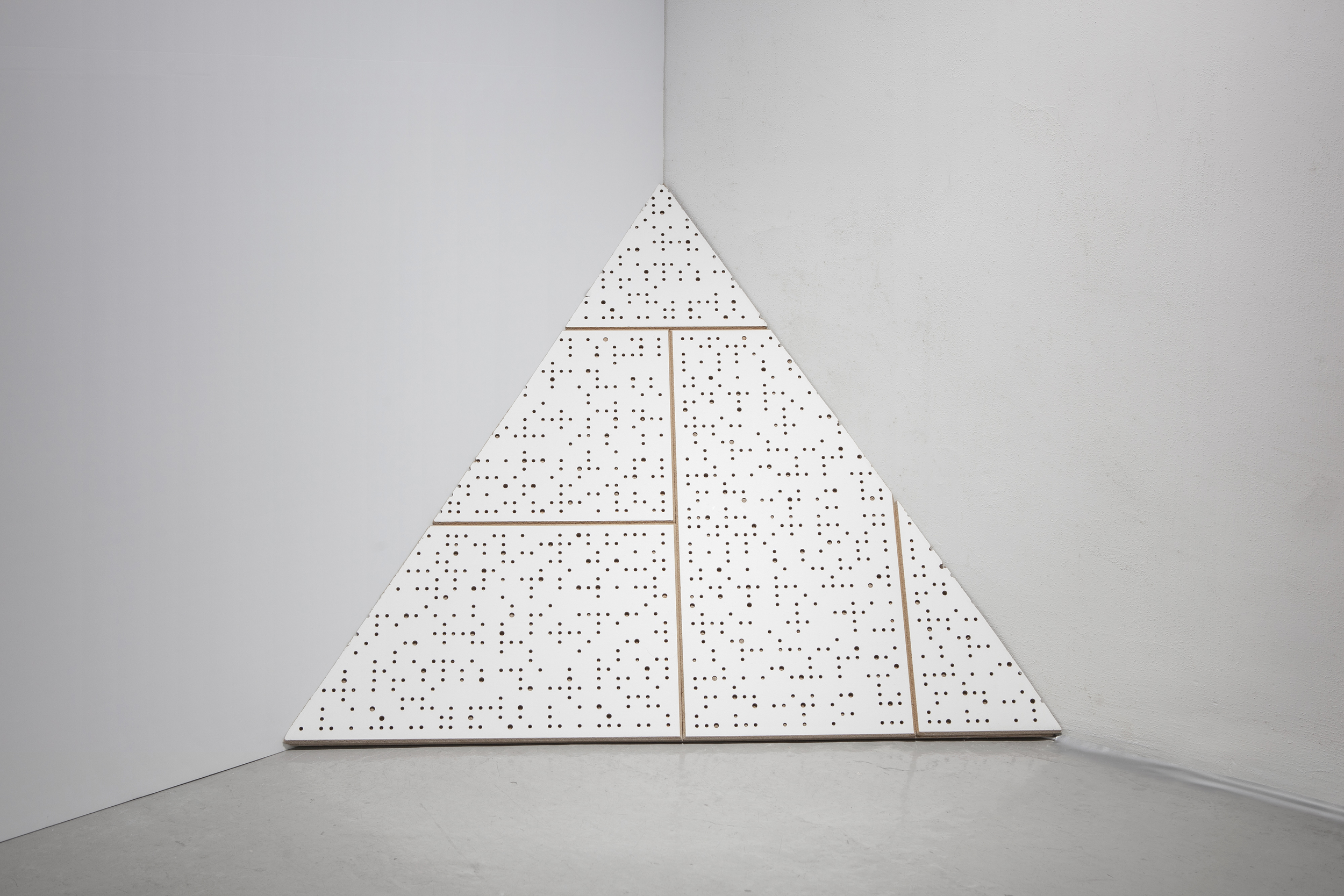 Hearing But Do Not Understand , 100x100x100cm, soundproof wall, stereo speakers: sound recording, 2014