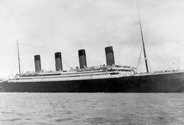 The Titantic,  April 10, 1912
