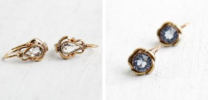 Rolled Gold 1930s Earrings