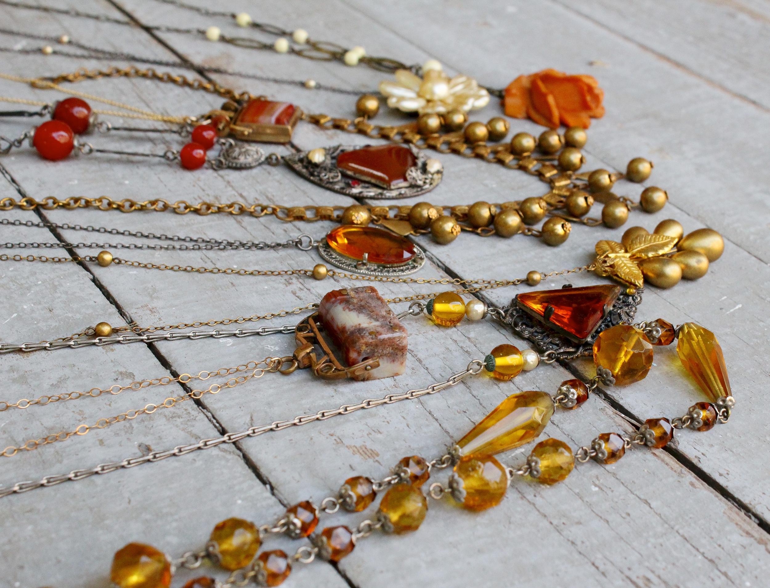 Victorian-Edwardian-Art Deco Necklaces