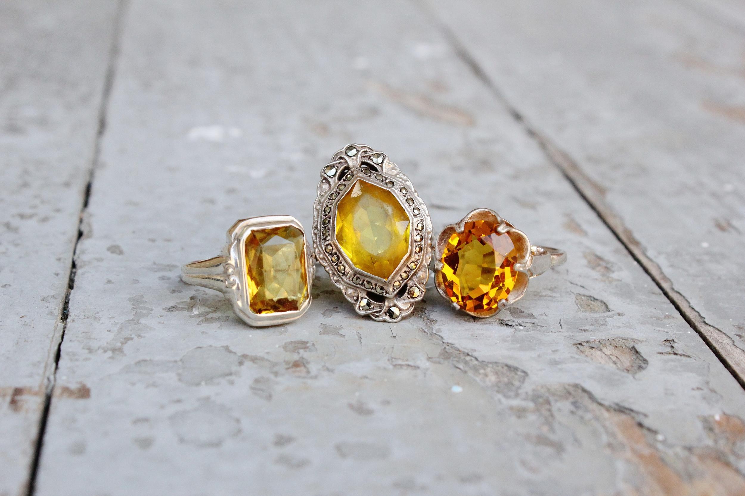 Citrine colored stones
