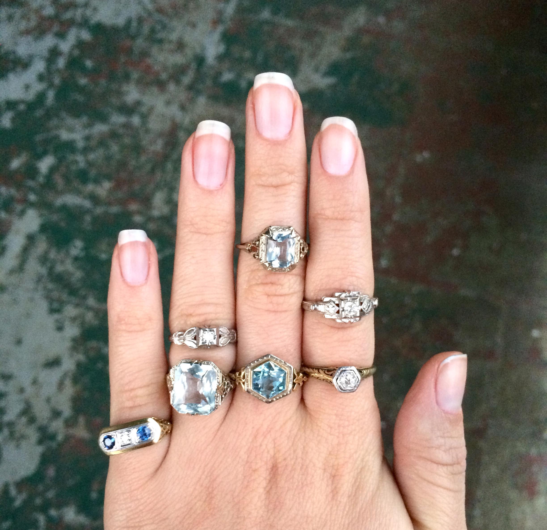 Various vintage rings boasting filigree