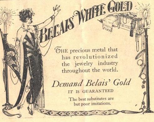 """Original Belais advertistment - """"Demand Belais' Gold"""""""