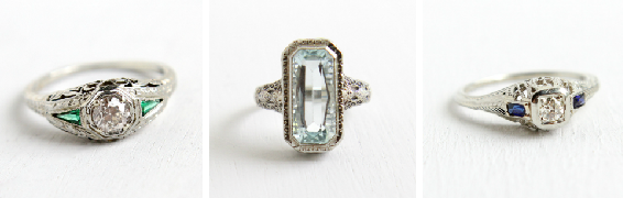 *Sold* Antique Belais rings from Maejean Vintage