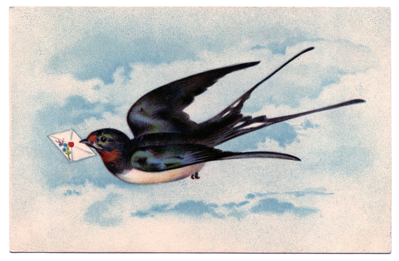 Swallows were illustratedbeautifullyin fine jewelry because of theirglidingslender stream lined bodies and forked long pointed wings.