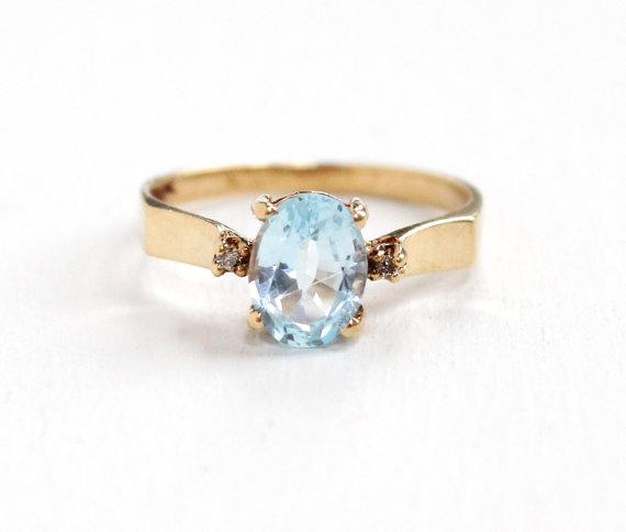 Vintage Genuine  Topaz Ring