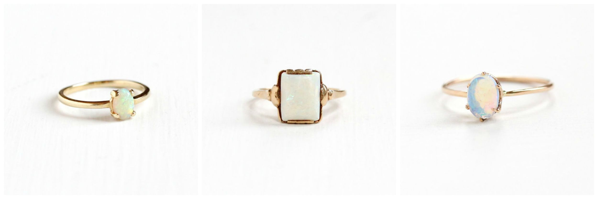 Vintage Yellow Gold Opal  Ring , Antique Yellow Gold Opal  Ring , Antique Jelly Opal  Ring