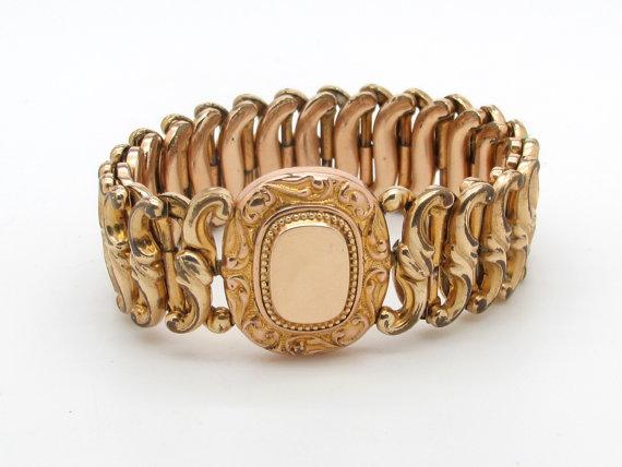 Antique Gold Filled Expansion Bracelet via  FountainCityJewels