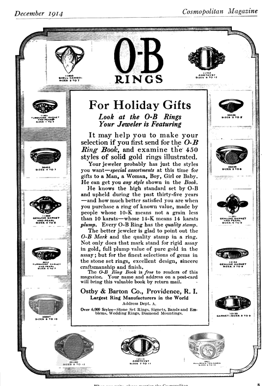 History of Ostby & Barton Jewelry Co  & the Significance of the