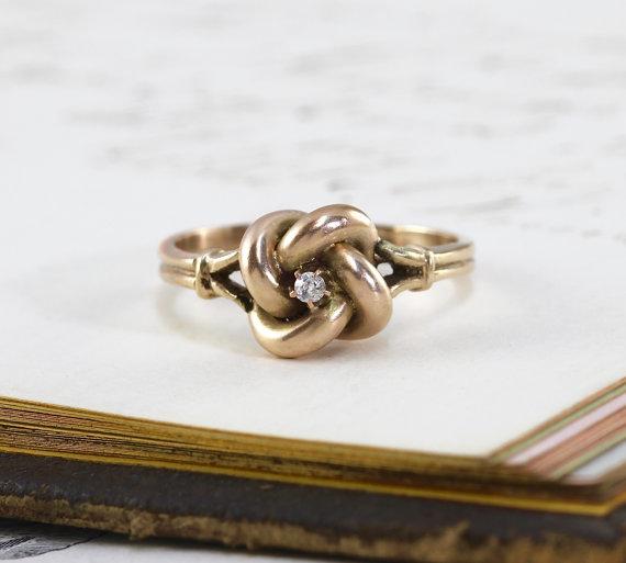 Antique Diamond Love Knot Ring via    TheEdenCollective