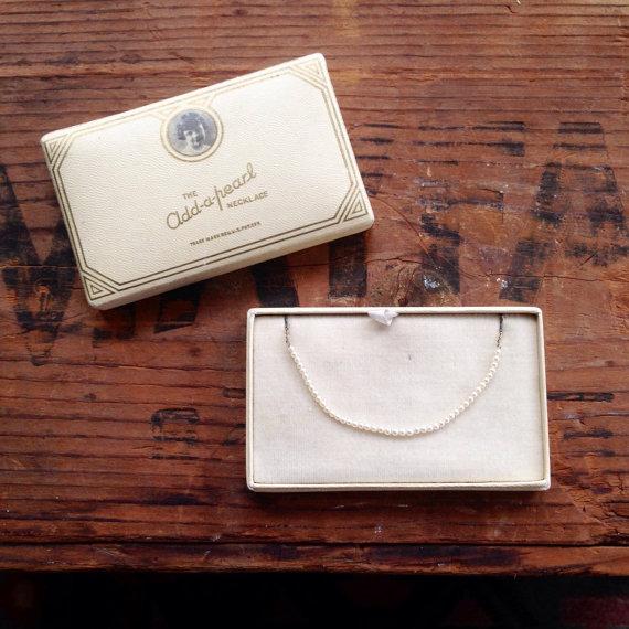 Vintage Add-a-Pearl Necklace via  tincanvintage