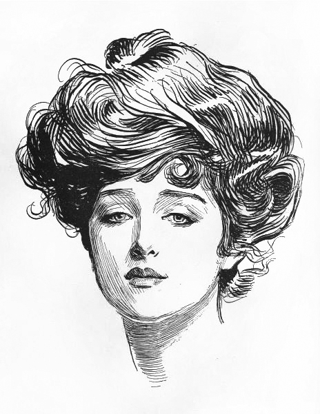 Gibson Girl, Art By Charles Dana Gibson