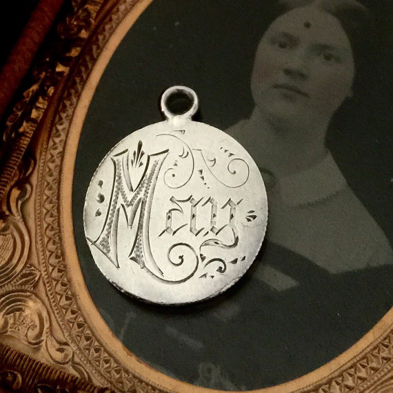 Antique Engraved Love Token via  LuxeVieuxLoft