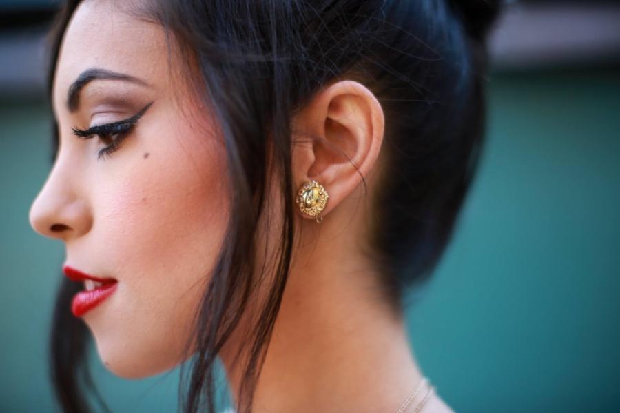 Shop : Antique Victorian 10k Yellow Gold Diamond Earrings