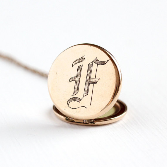 Antique Monogrammed Locket