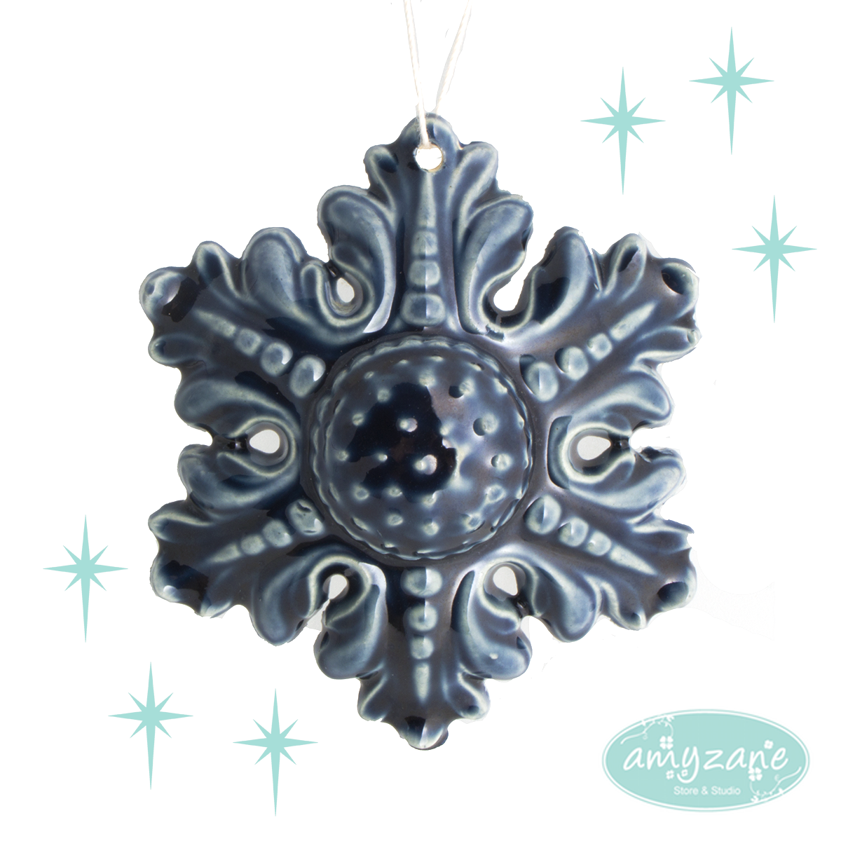 Ceramic Snowflake by Kayli Faye Ceramics