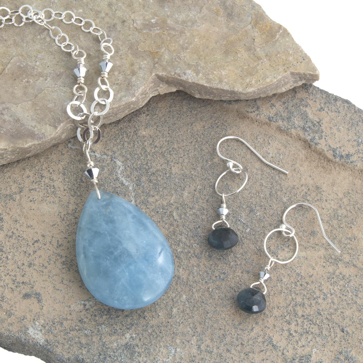 The many shades of Aquamarine available in Amy Zane jewelry.