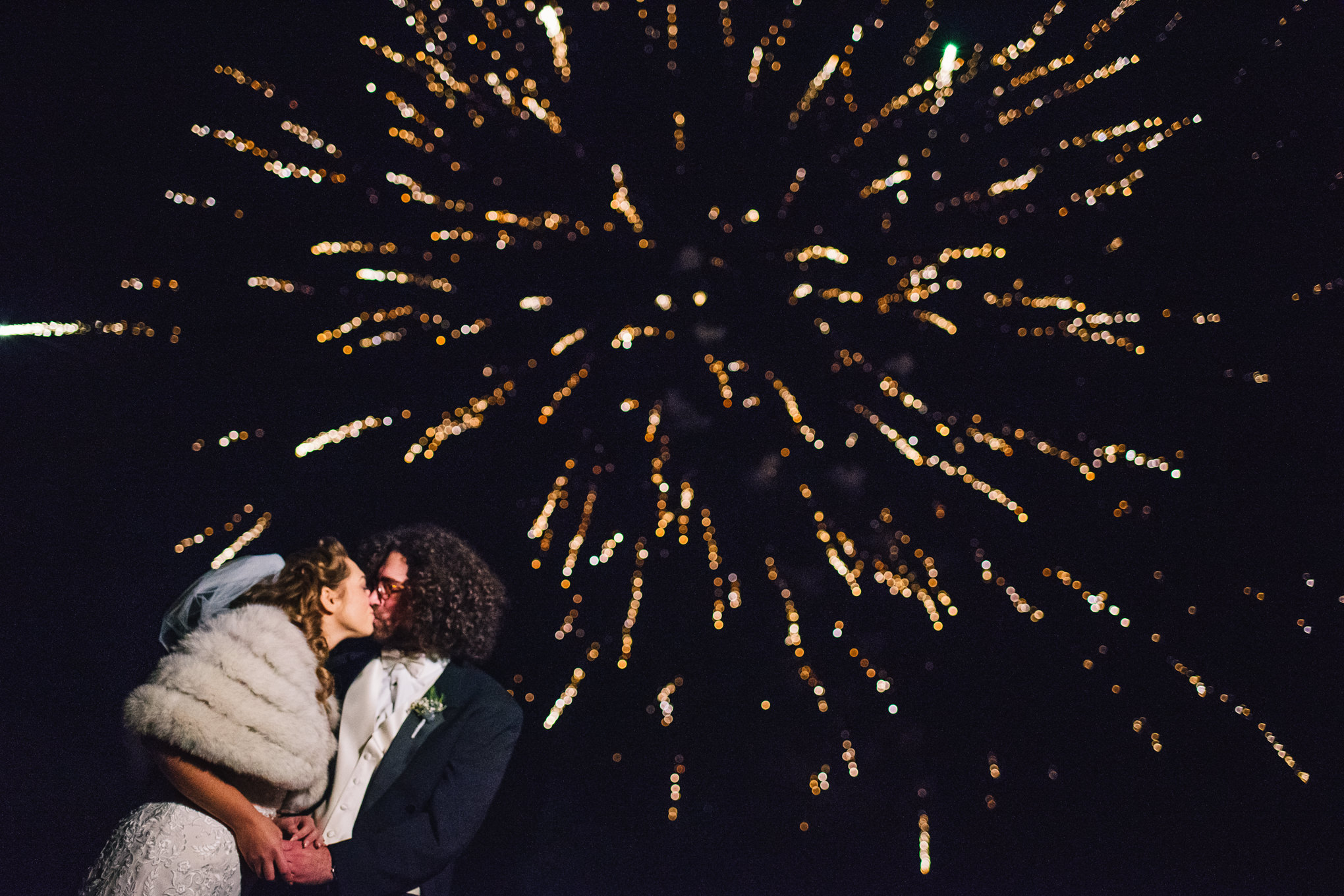 Couple and fireworks