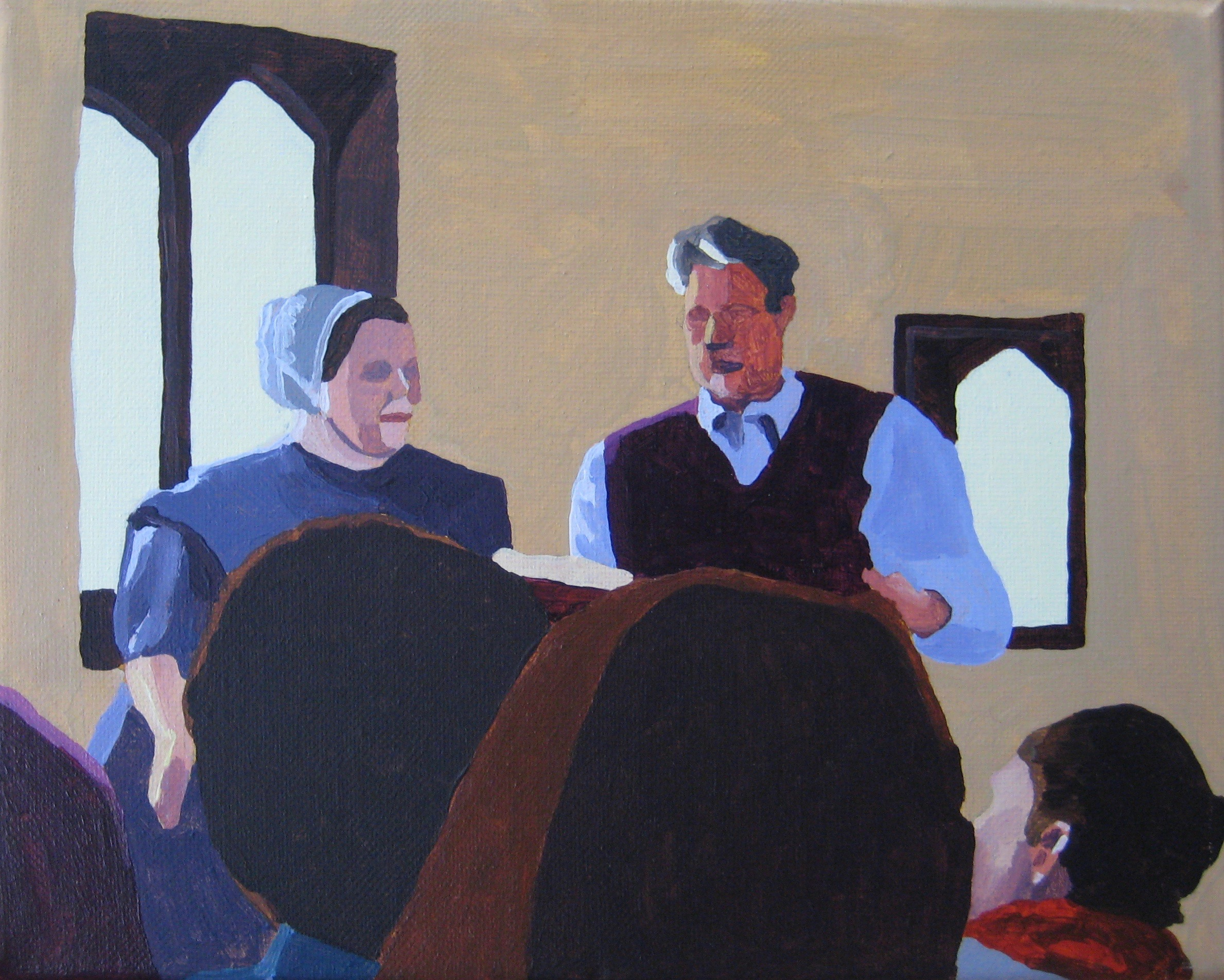 """Ted and Ruth, acrylic on canvas, 10""""x8"""""""