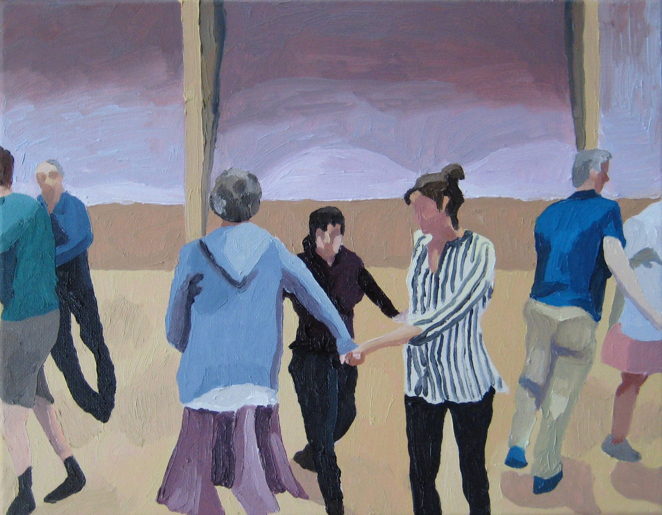 """Contra Dance, oil on canvas, 14""""x11"""""""