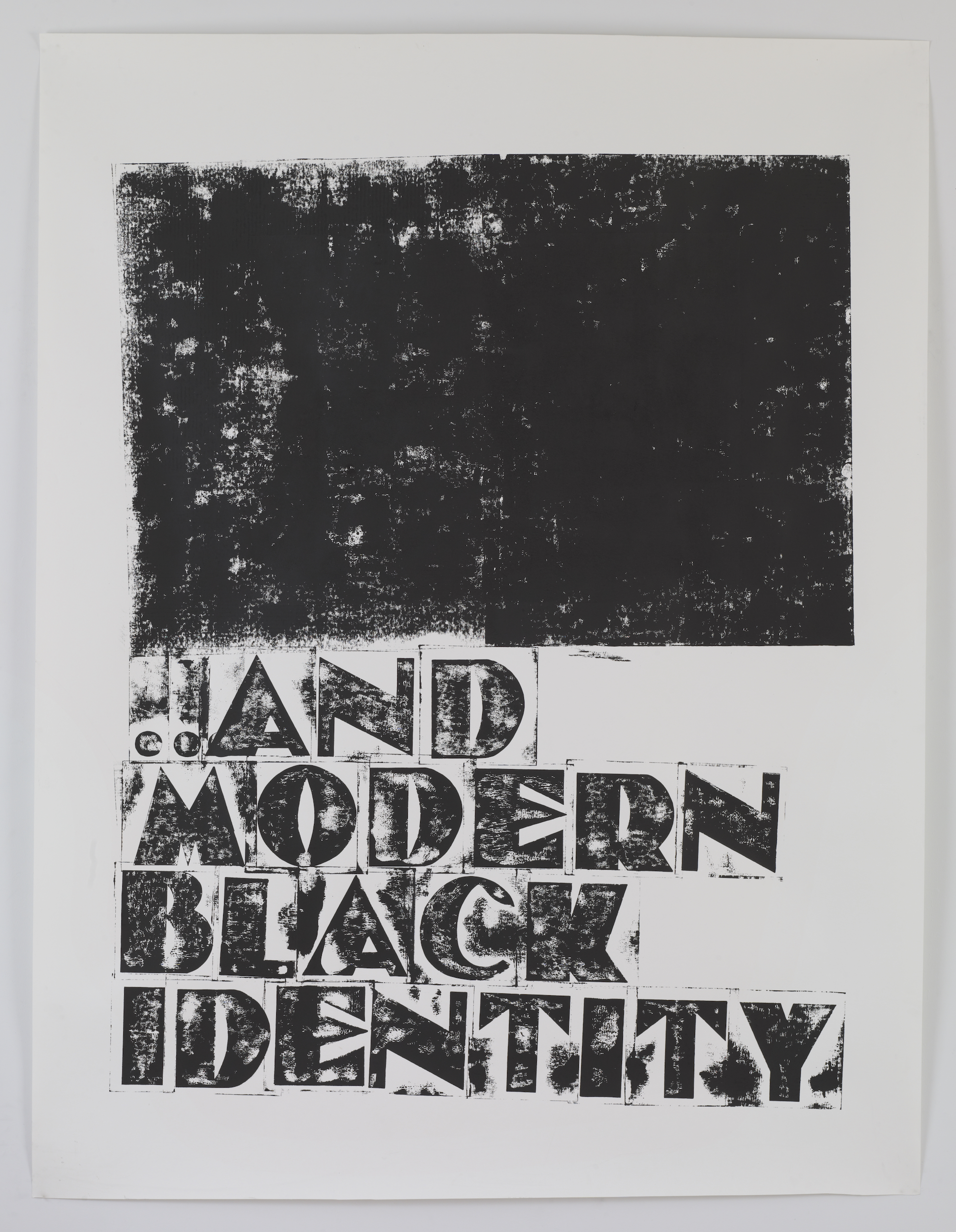 Kara Walker, ... (And Modern Black Identity) , 2010. Unique ink transfer on paper, 94 x 72 inches.