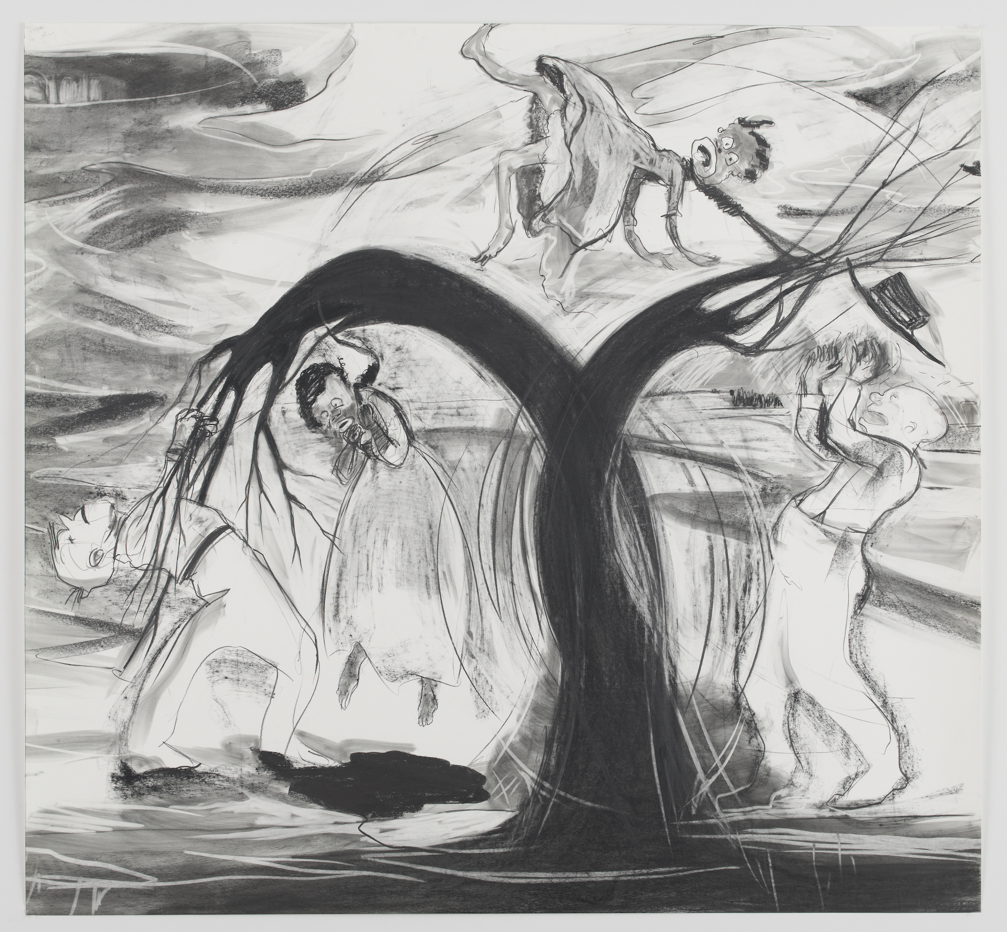 Kara Walker, The Daily Constitution 1878 , 2011. Graphite and pastel on paper, 72 x 77.75 inches.