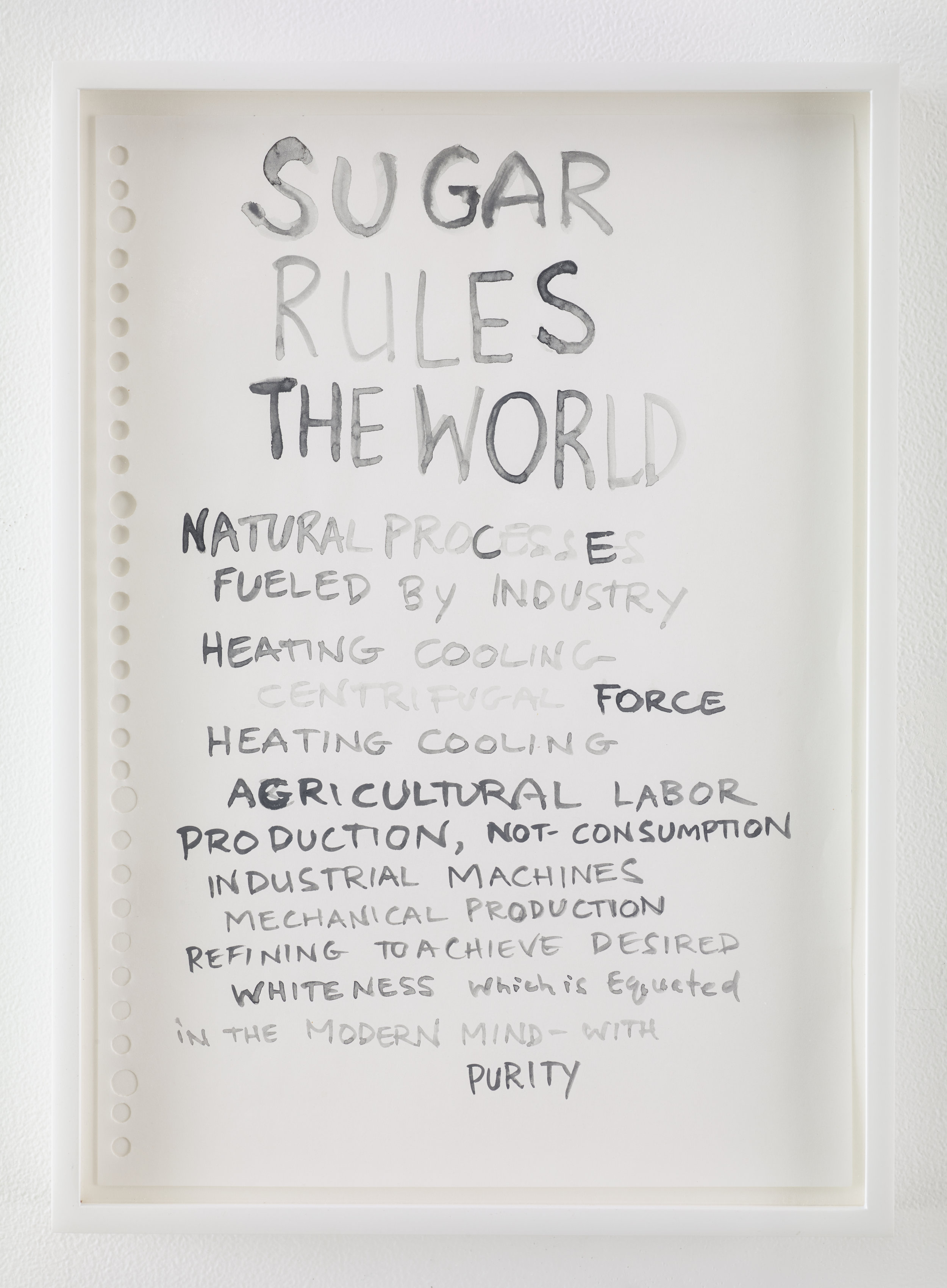Kara Walker, From:  Sugar Makes This World , 2013-4. Ink, watercolor and graphite on paper, 11.75 x 8.25 inches.