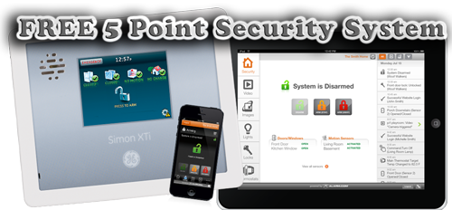 FREE 5 Point Security System. Get free equipment with no installation fees. Monitoring fees start at a dollar a day!  --Door contacts --Pet-friendly motion detector --Control panel/Keypad --Key chain remote --72-hour back-up battery     Call us today: 573-714-8921