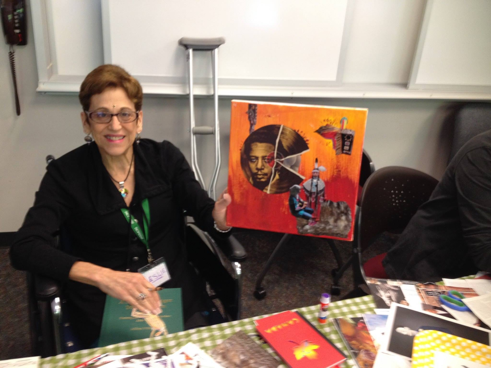 Creating a collage at the Art and Social Justice Workshop (Albany, NY 2015)