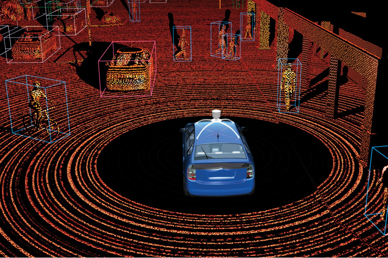 How self-driving cars see the world
