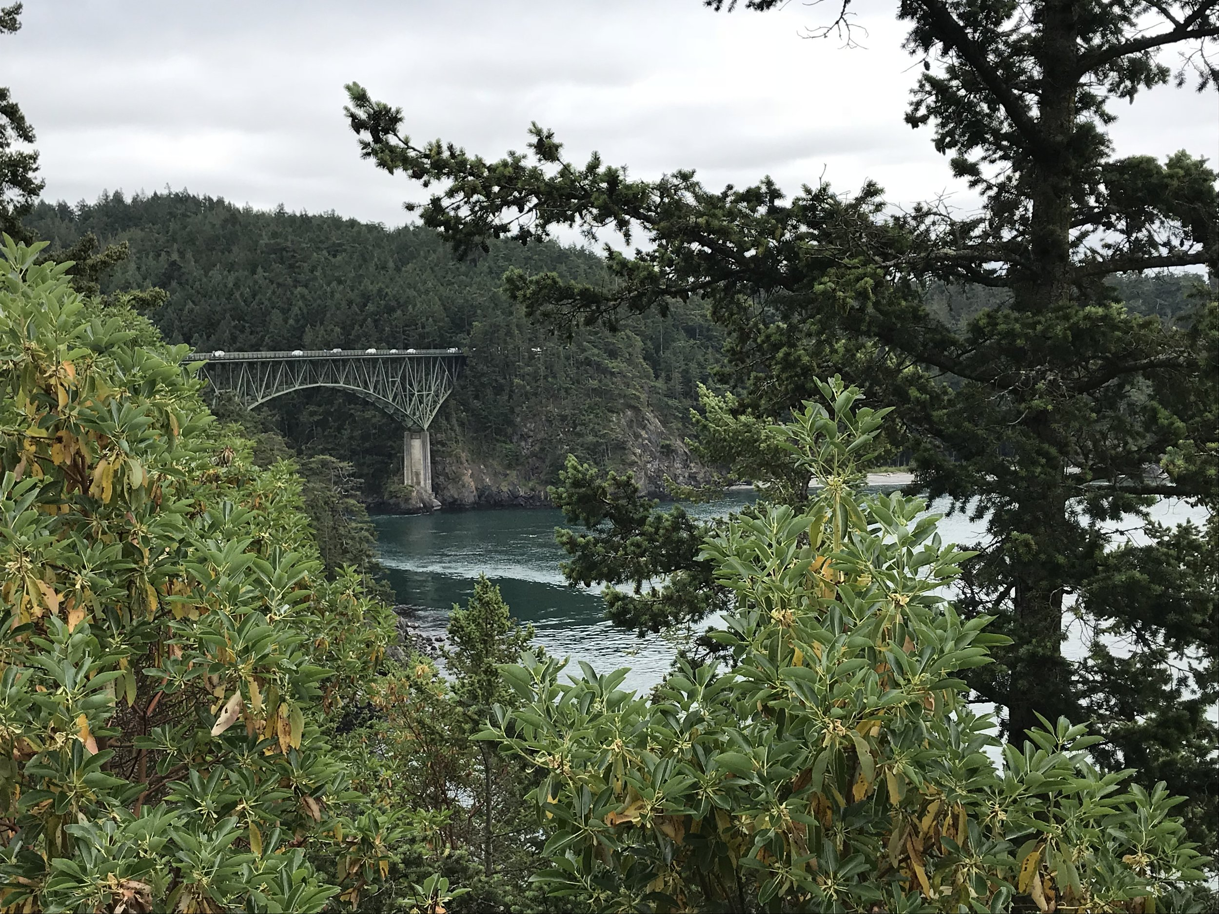 Getting ready to bike over Deception Pass.