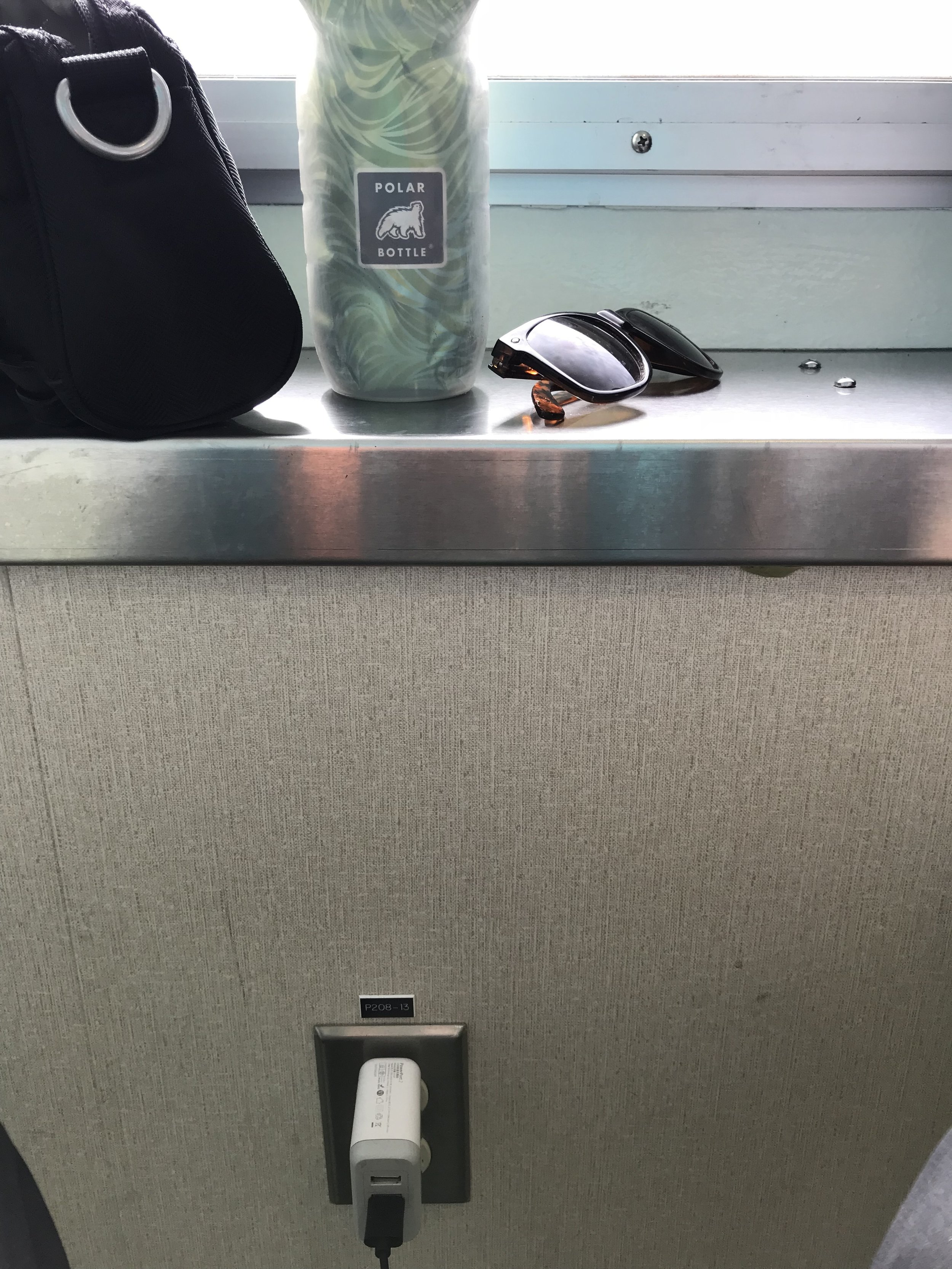 The pure magic of finding an outlet on the ferry.