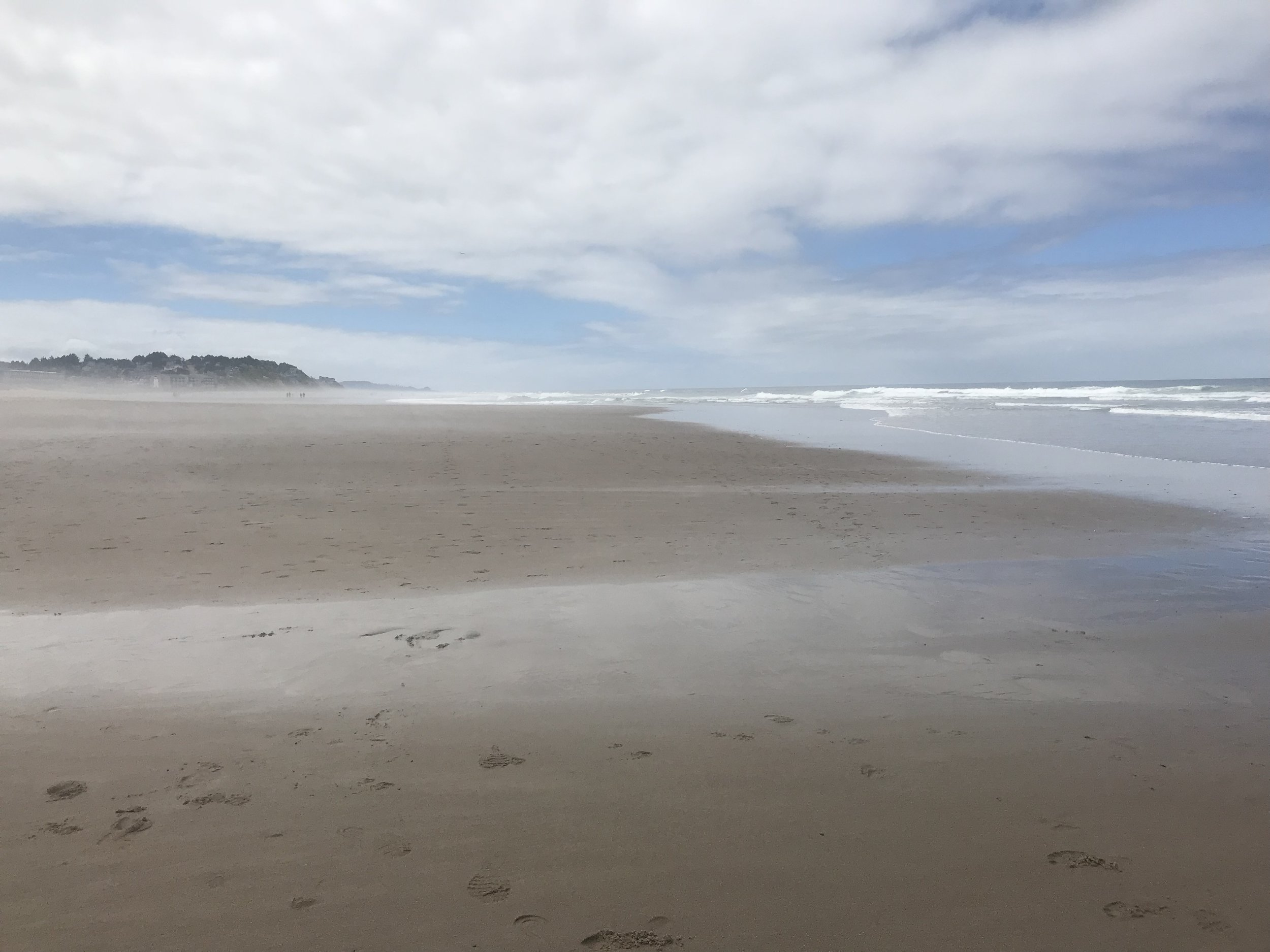 Beach in Lincoln City.