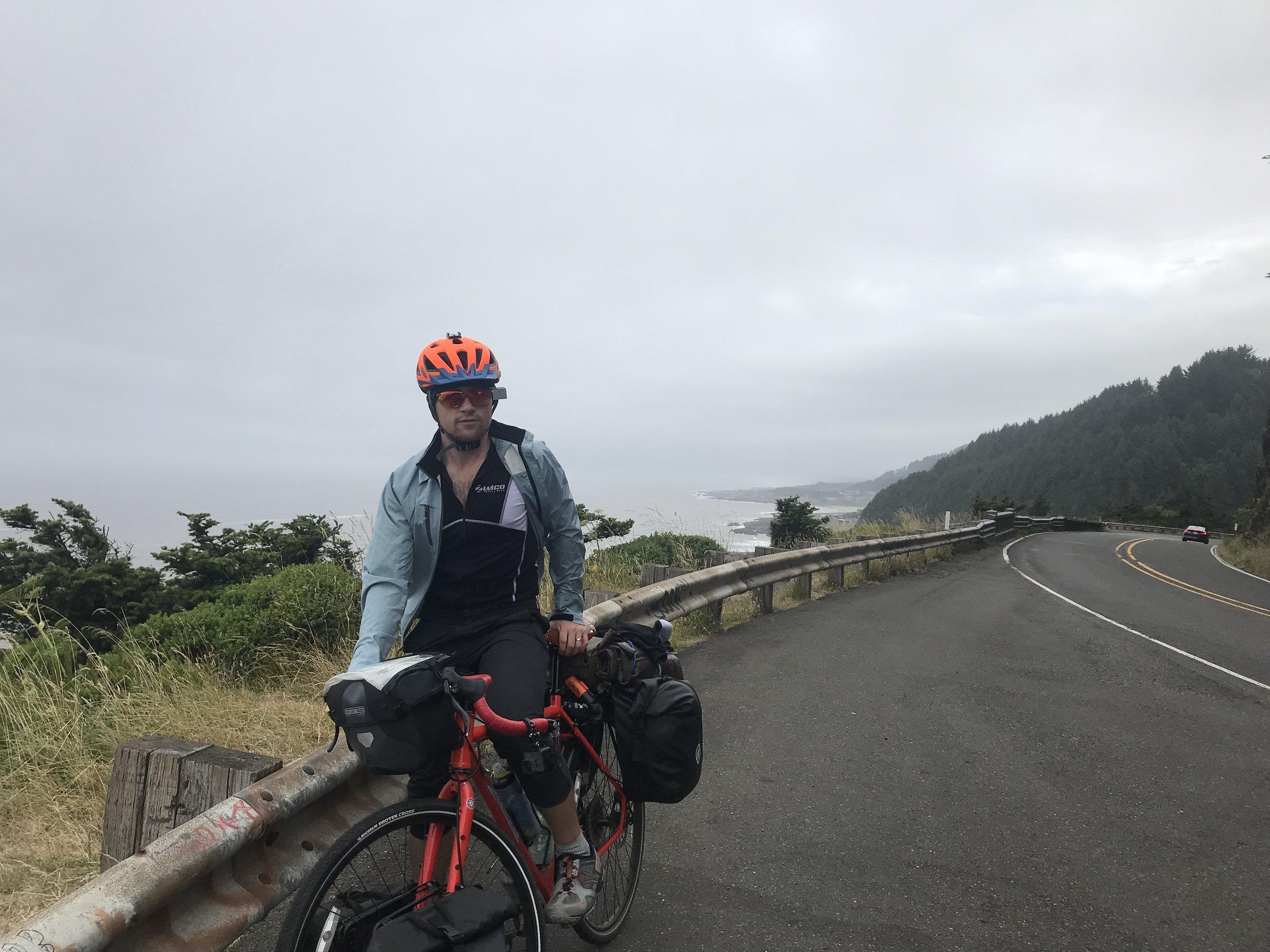 Misty riding through Cape Perpetua.